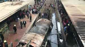 Cairo train crash kills dozens and causes deadly blaze [Video]