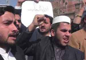 Demonstrators Rally in Peshawar to Call for War With India [Video]