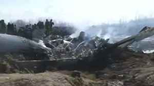 Indian air force aircraft crashes in Kashmir [Video]