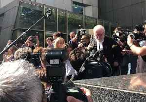 Pell Lawyer Surrounded by Media on Leaving Court After 'Plain Vanilla' Abuse Comments [Video]