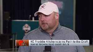 Cleveland Browns head coach Freddie Kitchens explains what Browns saw from quarterback Baker Mayfield at 2018 combine [Video]
