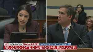 Rep. Alexandria Ocasio-Cortez Questions Trump's Lawyer Michael Cohen [Video]
