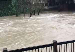 Creek Overflows With Floodwater as Heavy Rainfall and Storms Sweep California [Video]