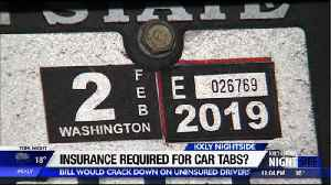 Proposed bill would require proof of insurance when renewing car tabs [Video]