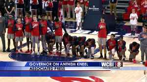 Ole Miss Players Kneel in Protest -  02/27/19 [Video]