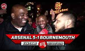 Arsenal 5-1 Bournemouth | Aubameyang Was WORKING For His Goal!! (Troopz) [Video]
