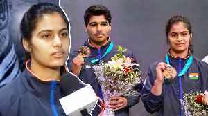 Manu Bhaker after clinching mixed team gold at shooting world cup  OneIndia News [Video]