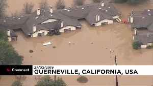 Flood waters wash over California's wine country [Video]