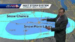 First Alert: Thursday will be cold; accumulating snow possible Sunday [Video]