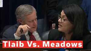 Watch: Reps. Tlaib And Meadows Get Into Heated Exchange At End Of Cohen Hearing [Video]