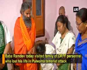Baba Ramdev donates Rs 2.5 lakh to family of slain soldier who lost his life in Pulwama attack [Video]
