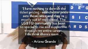 Ariana Grande Addresses Backlash Over Manchester Pride: I 'Want to Celebrate' This Community' [Video]