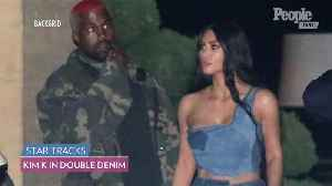 Kim Kardashian Kisses Kanye West as She Flaunts Her Figure in Double Denim During Family Night Out [Video]