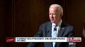 Joe Biden tells UNO students that 'it's time for us to lead again' [Video]