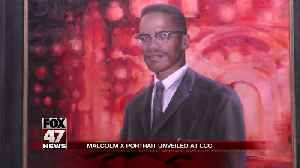 Malcolm X portrait unveiled at LCC [Video]