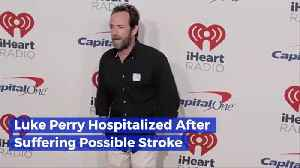 Luke Perry Is In The Hospital Due To A Stroke [Video]