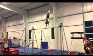 Girl Gymnast Transitions Smoothly From Stalder to Giant Swings [Video]