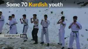 Iraqi karate team trains on snow-capped mountain [Video]