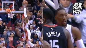 Wade feeds Adebayo for the perfect alley-oop [Video]
