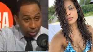 Stephen A Smith STOPS His Show To DROOL Over NY Knicks Head Coach's HOT WIFE! [Video]