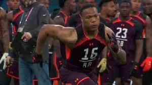 Iowa State running back David Montgomery's 2019 NFL Scouting Combine workout [Video]