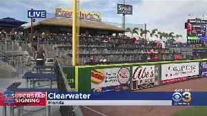 Phillies' Fans Excited For Harper To Arrive In Clearwater For Spring Training [Video]