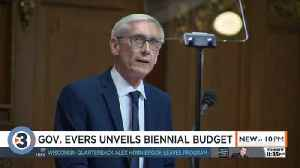 Evers to raise gas tax, increase school funding, roll back Walker proposals in first state budget [Video]