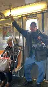 """Man dances to """"what do you mean"""" justin bieber on subway train [Video]"""