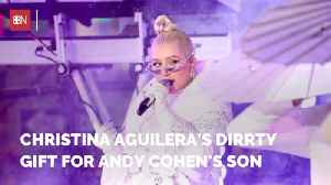 Andy Cohen Gets A Really Fun Baby Gift From Christina Aguilera [Video]