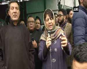 Mehbooba Mufti leads PDP protest against centre's ban on Jamat-e-Islami [Video]