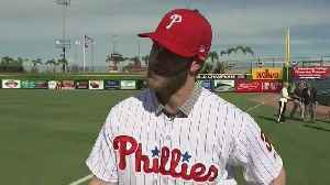 Bryce Harper Is Excited To Call Citizens Bank Park Home [Video]