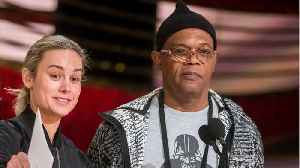 Brie Larson And Samuel L. Jackson Sing Together During Interview [Video]