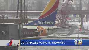 Southwest Airlines Planes Clip Wings At Newark Airport [Video]