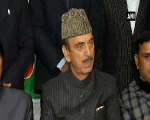 BJP shouldnt do politics in this situation Ghulam Nabi Azad [Video]