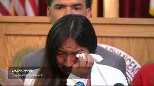 Stephon Clark's fiancee gives tearful statement [Video]