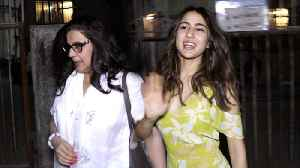 Sara Ali Khan Enjoys Salon Time With Her Mom Amrita Singh [Video]