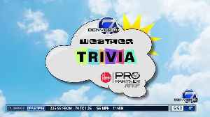 Weather trivia on March 4: How many times has Denver had temps below -20 degres? [Video]