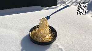 It's noodles of fun to watch this food freeze mid-air [Video]