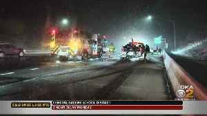 Pittsburgh Weather: Snow Creates Slippery Conditions, Causes Accidents Across Area [Video]