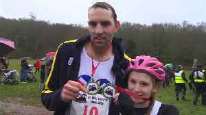 'Wife carrying' race winner proposes to partner after gruelling victory [Video]