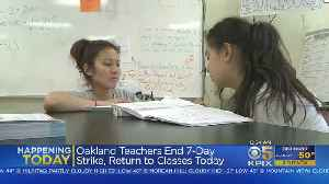 Oakland Teachers Return To Work After Approving Contract Deal [Video]