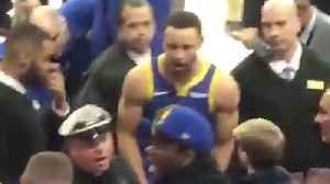 Steph Curry Goes Into Stands to Breakup A FIGHT Between A Warriors Fan & Security Guard! [Video]