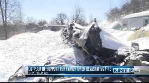 Community support for family after devastating fire [Video]