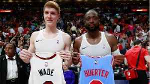 Dwyane Wade Surprises Rookie Guard With Post-Game Jersey Swap [Video]