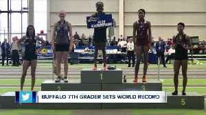 Buffalo seventh-grader sets track and field world record [Video]