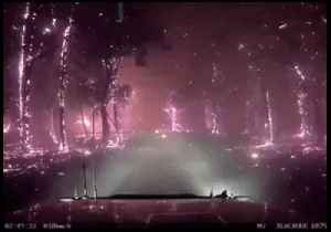 Firefighters Travel Through Glowing Landscape as Fires Rage Near Melbourne [Video]