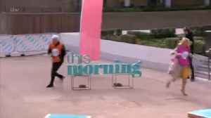 Phillip Schofield Swears Live On Air During This Morning Pancake Race [Video]