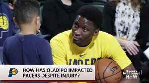 Despite Injury, Victor Oladipo Inspires Pacers From Sidelines [Video]