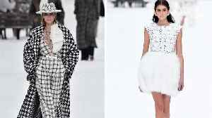 Penélope Cruz and Cara Delevingne Walk Late Designer Karl Lagerfeld's Emotional Last Chanel Show [Video]