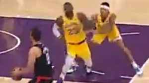 Kyle Kuzma SHOVES LeBron James In Lakers EMBARRASSING Loss To Clippers! [Video]